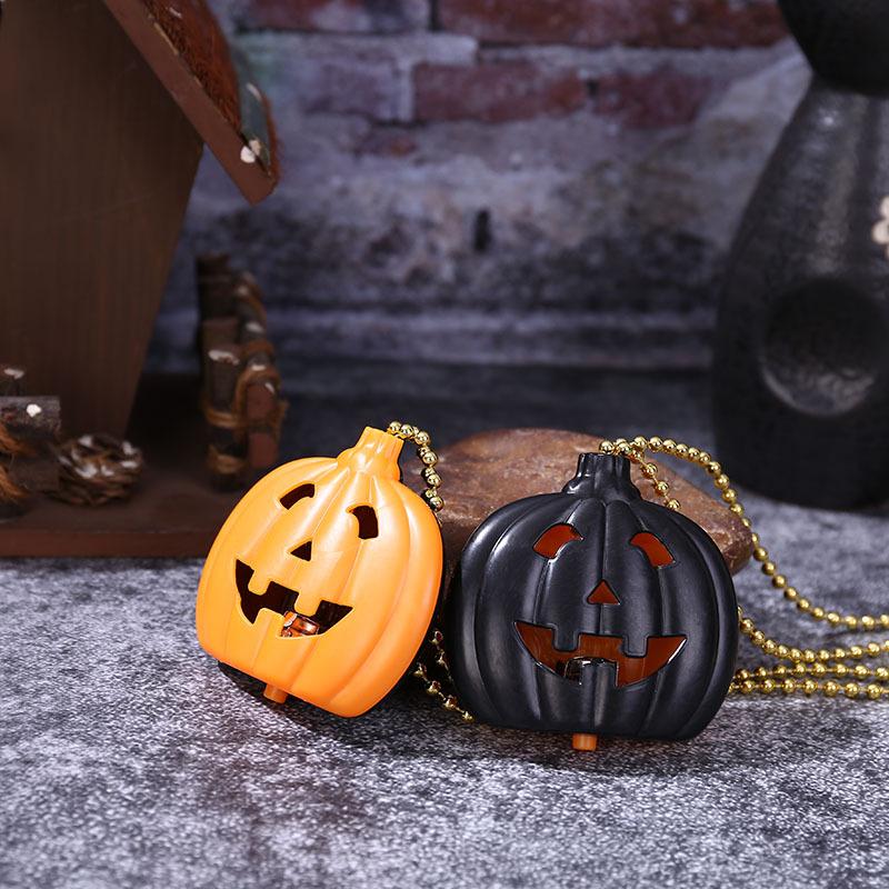 Halloween Glowing Pumpkin Lantern Ghost Festival Pumpkin Skull Necklace Decoration Creative Halloween Decoration Pumpkin Pendant 3