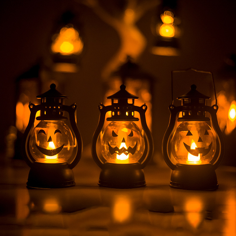 Creative Halloween Decorations Pumpkin Small Lanterns Atmosphere Decoration Ornaments For Parties And bars 0
