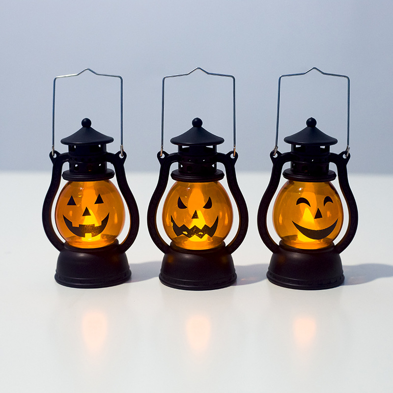 Creative Halloween Decorations Pumpkin Small Lanterns Atmosphere Decoration Ornaments For Parties And bars 5