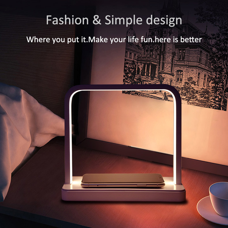 Portable Thin Large Battery Capacity Long-lasting And Durable Mobile Phone Smart Phone Charging Treasure With Desk Lamp 3