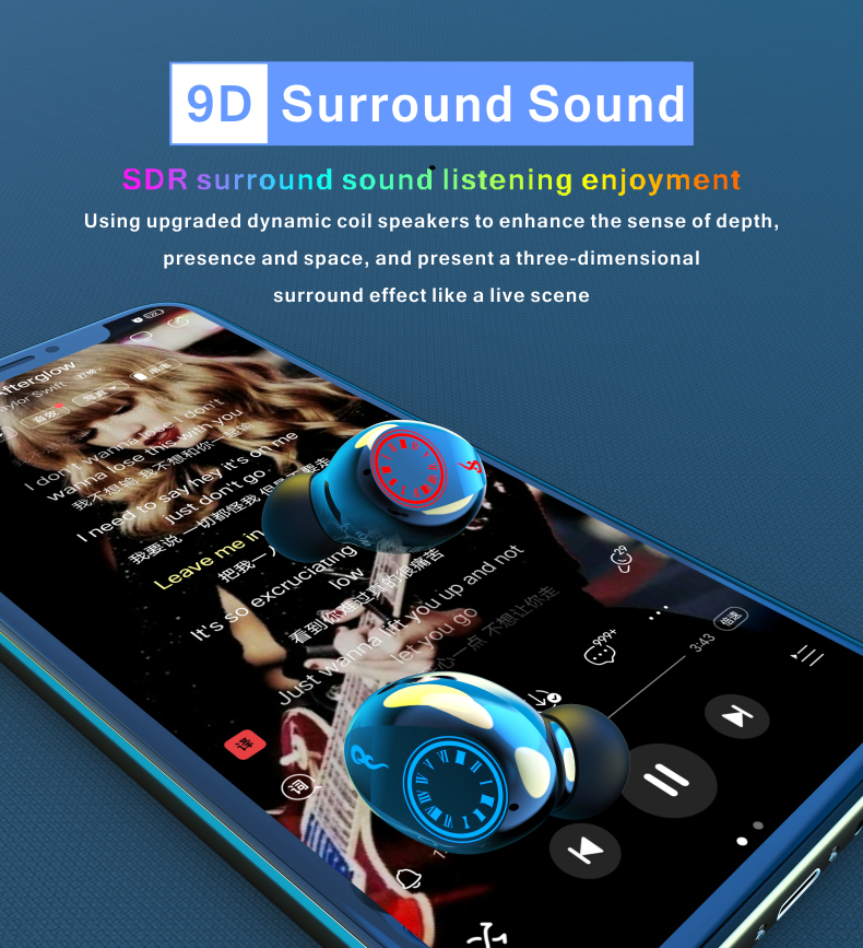 2020 New Style Wireless Bluetooth Earphones High Quality Cross-border In-ear Type Ear Cup Stereo Sound 1