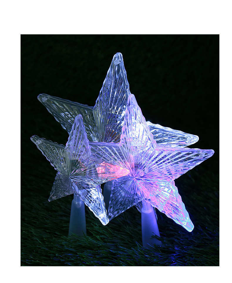 LED Luminous Tree Top Star Wholesale Trade Hot Sale PS Plastic Christmas Decorations Custom Creative Party Decoration 3