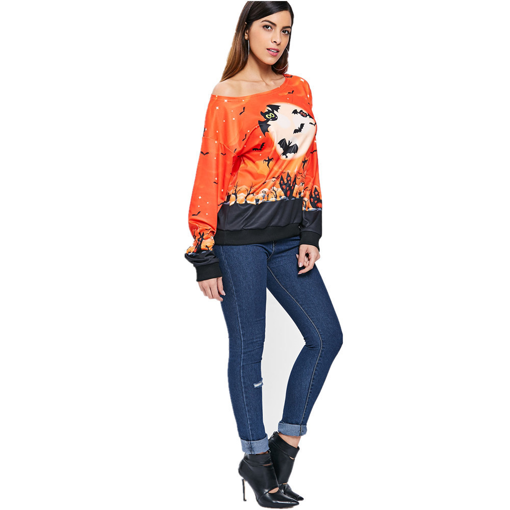 2020 European And American Halloween Print T-Shirt With Trendy Styles Exquisite Workmanship For Women 2