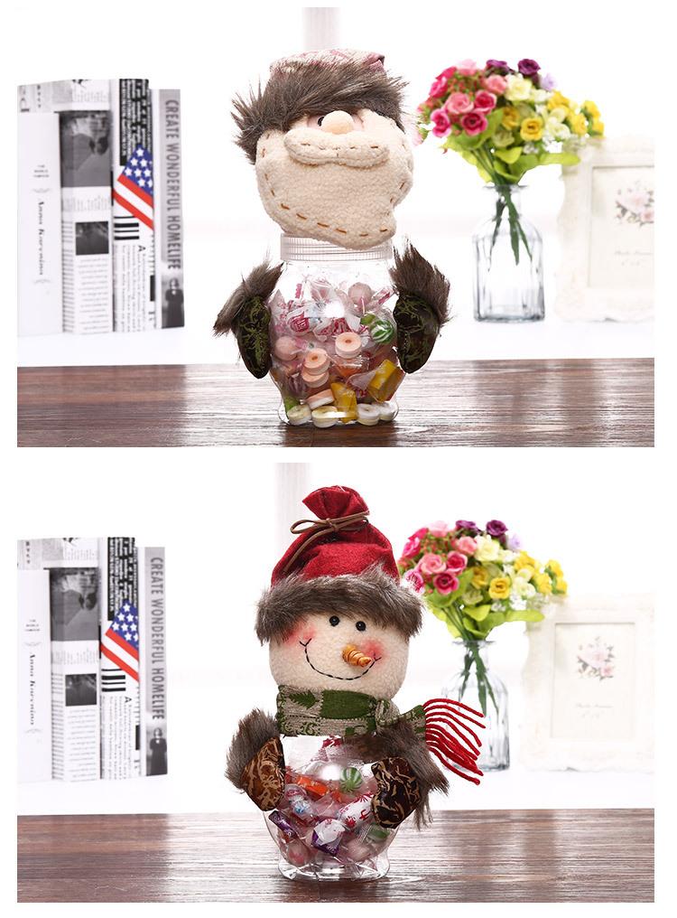 Christmas Ornaments Retro Santa Snowman Plastic Candy Box Children Christmas Transparent Candy Jar 3