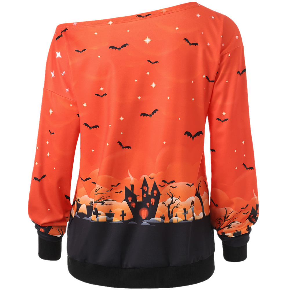 2020 European And American Halloween Print T-Shirt With Trendy Styles Exquisite Workmanship For Women 4