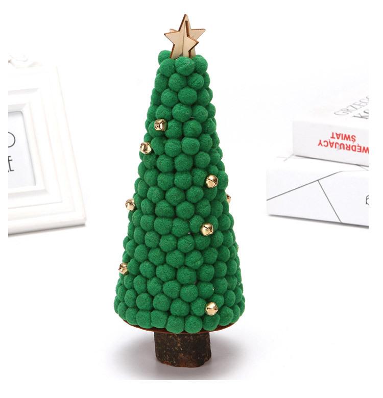 Christmas Decorations Colored Fur Balls Desktop Small Tree 28cm Desktop Mini Christmas Tree Set Up Children's Creative Gifts 4