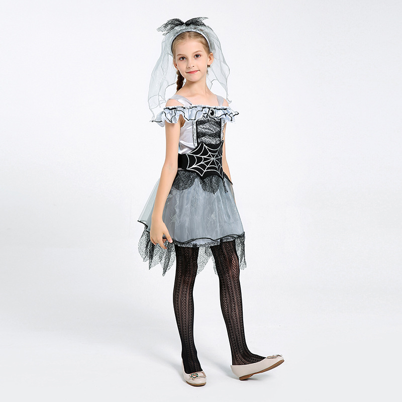 Children's Fancy Dress Party Performance Spider Fairy Costume Spider Bride Acting Prop Costume 2