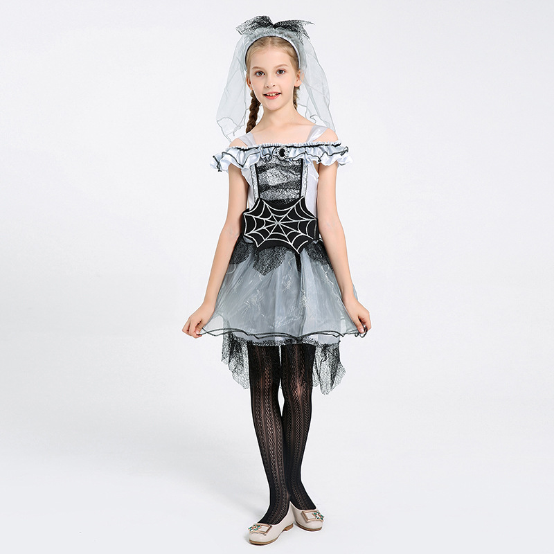 Children's Fancy Dress Party Performance Spider Fairy Costume Spider Bride Acting Prop Costume 0