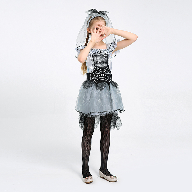 Children's Fancy Dress Party Performance Spider Fairy Costume Spider Bride Acting Prop Costume 1