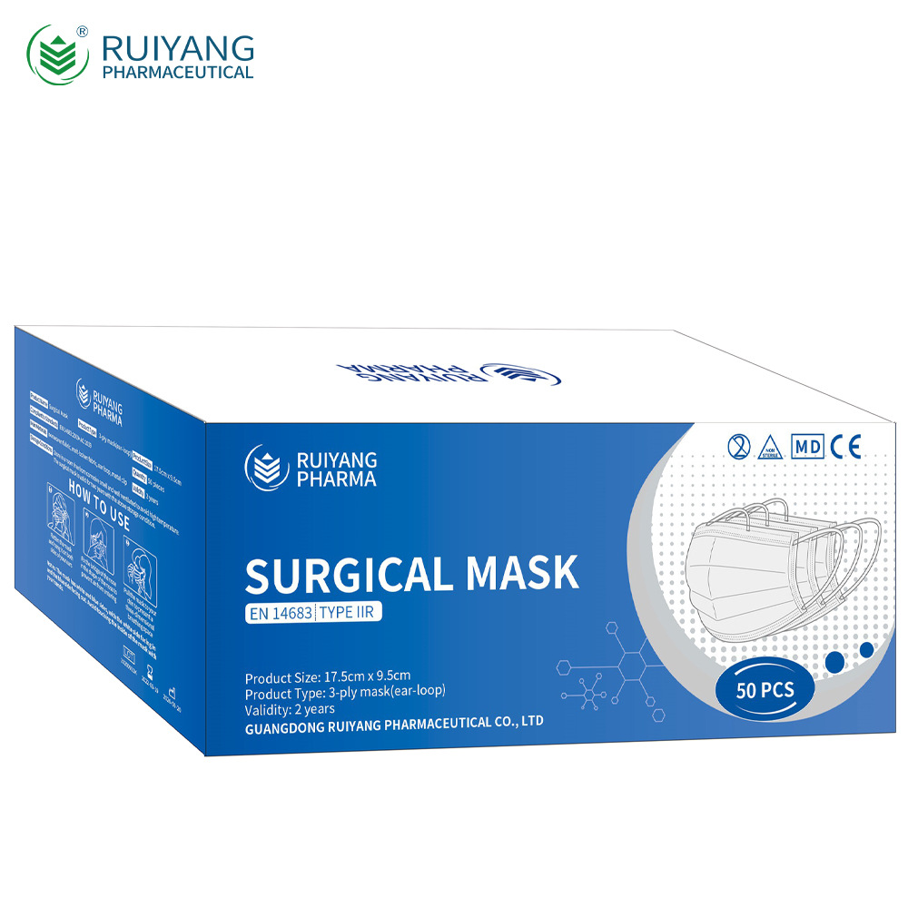 Ruiyang Pharma CE EN14683 Type IIR Medical Surgical Mask Disposable Adult And Child Mask 1