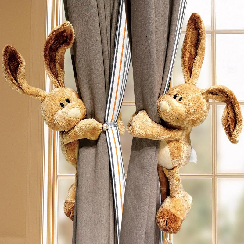 Curtain Doll Buckle Decoration Cute Cartoon Rabbit Doll Strap Wild Creative Tie Rope 1