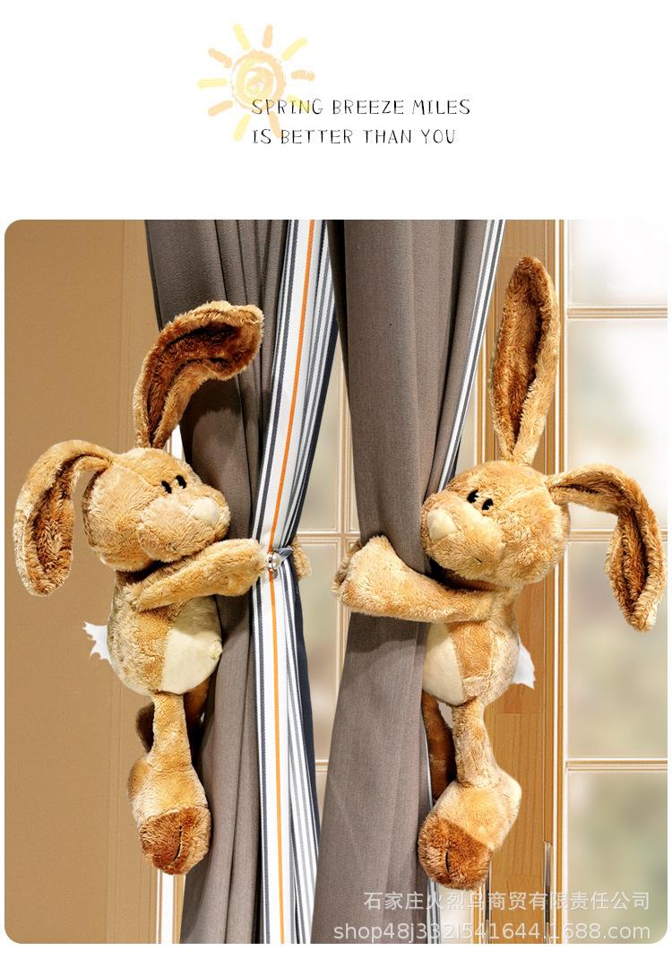 Curtain Doll Buckle Decoration Cute Cartoon Rabbit Doll Strap Wild Creative Tie Rope 4