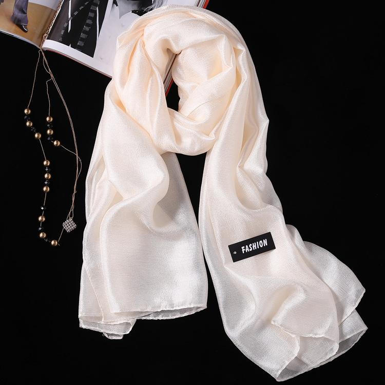 2PCS Summer New Linen Silk Scarf, Seaside Sunscreen Beach Towel Shawl Fashion Gift Solid Color Scarf 0