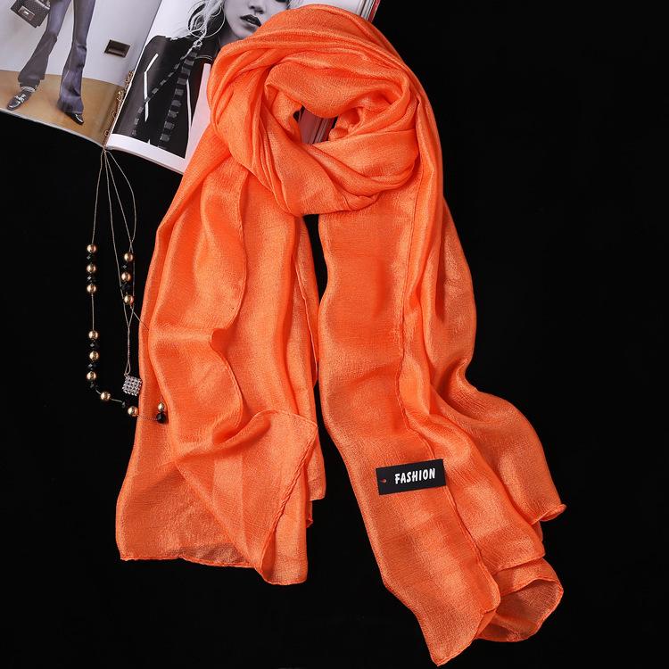 2PCS Summer New Linen Silk Scarf, Seaside Sunscreen Beach Towel Shawl Fashion Gift Solid Color Scarf 3