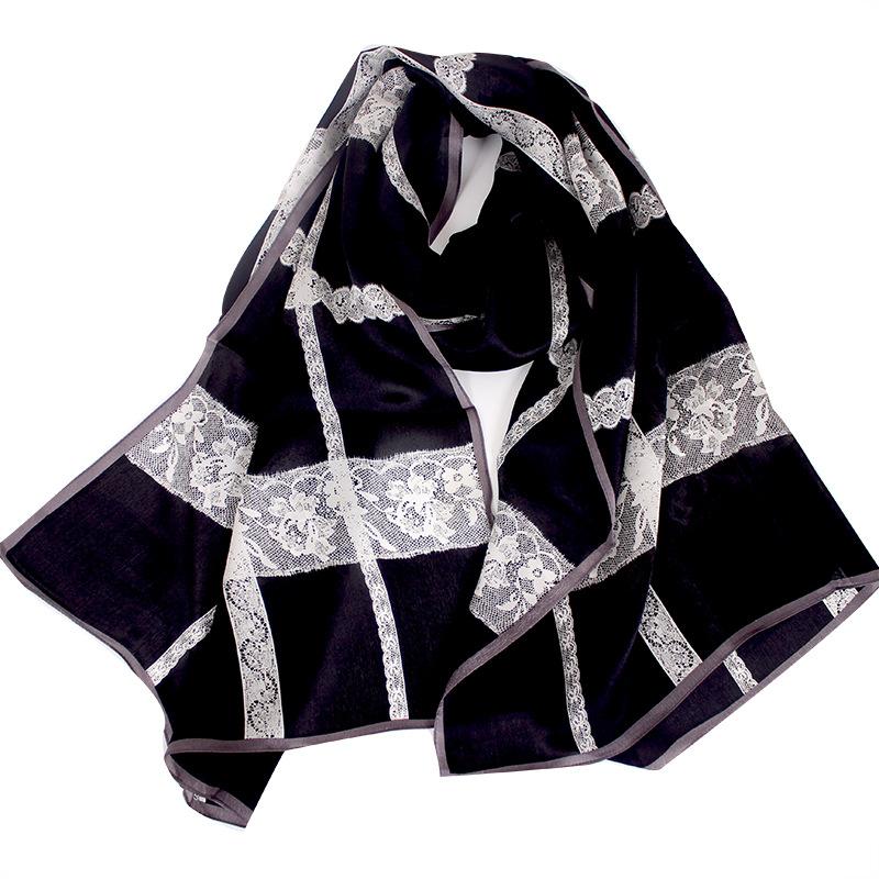 Hangzhou Silk Autumn And Winter New Women's Silk Scarf Wild Light Silk Gauze Sunscreen Mulberry Silk Scarf 5
