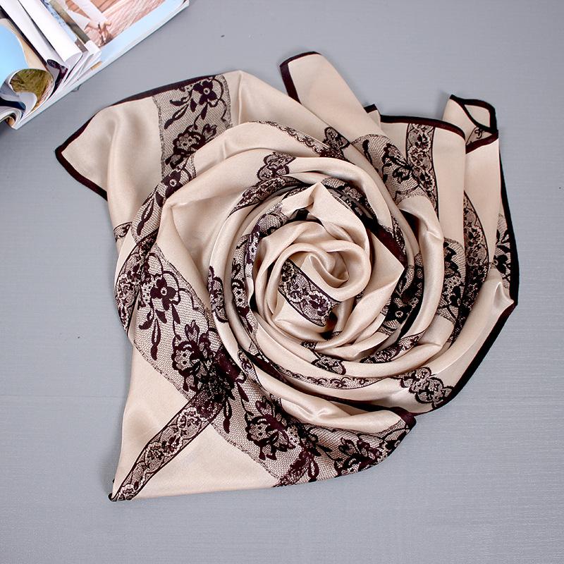 Hangzhou Silk Autumn And Winter New Women's Silk Scarf Wild Light Silk Gauze Sunscreen Mulberry Silk Scarf 2