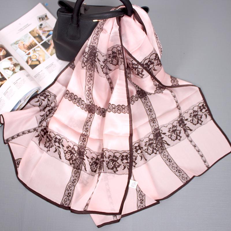 Hangzhou Silk Autumn And Winter New Women's Silk Scarf Wild Light Silk Gauze Sunscreen Mulberry Silk Scarf 4