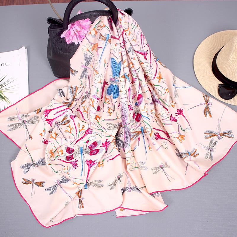 Silk Scarf Women Autumn And Winter Wild Blended Big Square Scarf Thin Shawl Hangzhou Silk Scarf Women Travel Towel 0
