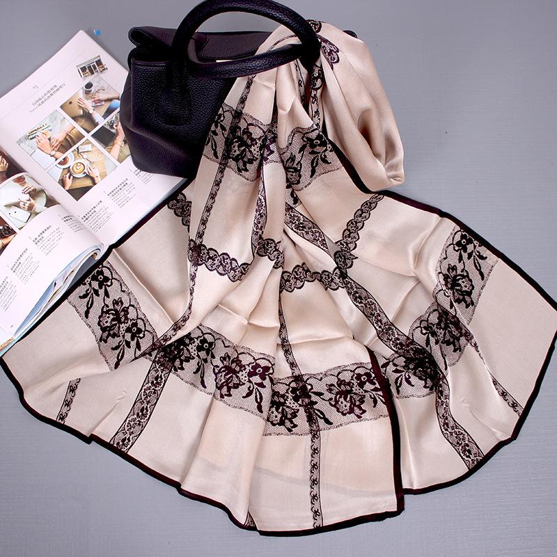 Hangzhou Silk Autumn And Winter New Women's Silk Scarf Wild Light Silk Gauze Sunscreen Mulberry Silk Scarf 7