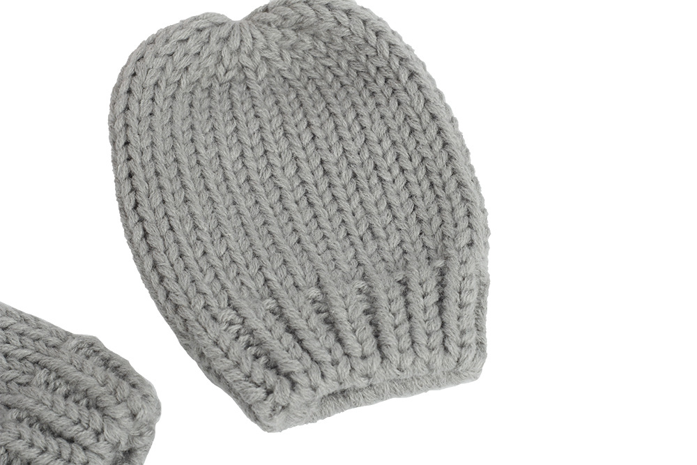 2020 Autumn And Winter Baby Knitted Hats New Hat Gloves Set Cute Little Ears Shape Baby Hats 8