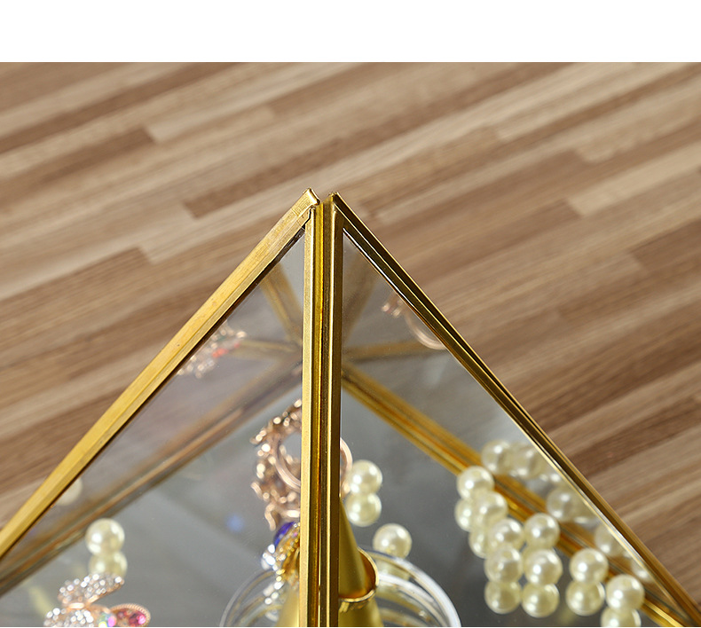 Local Tyrant Gold Diamond Glass Decoration Flower Room Ppen Door Closed High-end Jewelry Display Box Eternal Flower Box 3