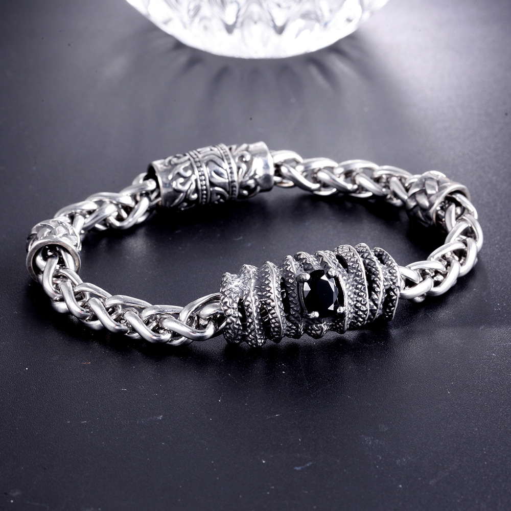 Stainless Steel Bracelet Simple Couple Titanium Steel Jewelry With  Unique Design For Men And Women 1