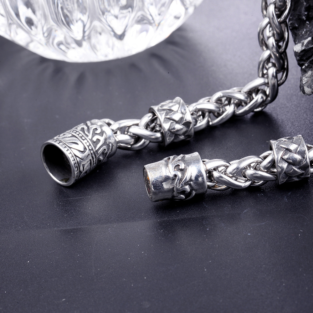 Stainless Steel Bracelet Simple Couple Titanium Steel Jewelry With  Unique Design For Men And Women 3