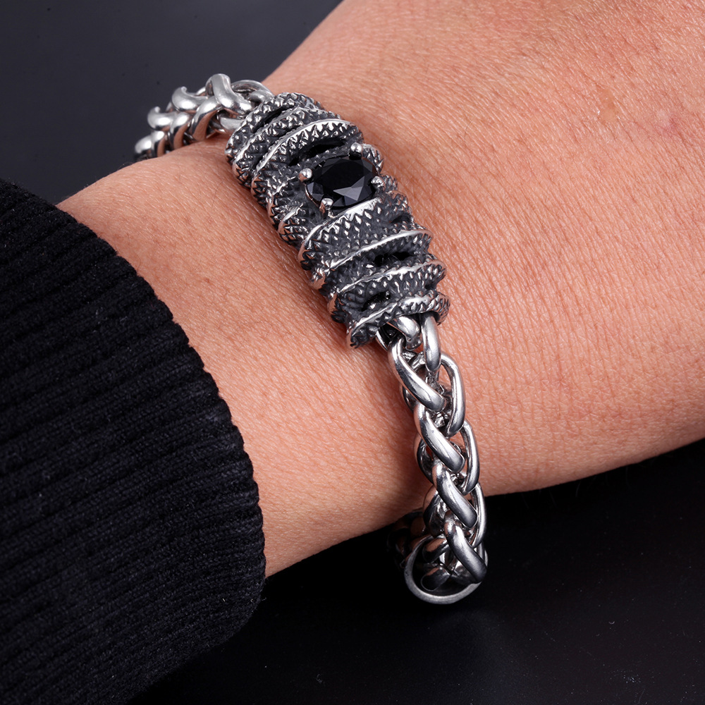 Stainless Steel Bracelet Simple Couple Titanium Steel Jewelry With  Unique Design For Men And Women 5