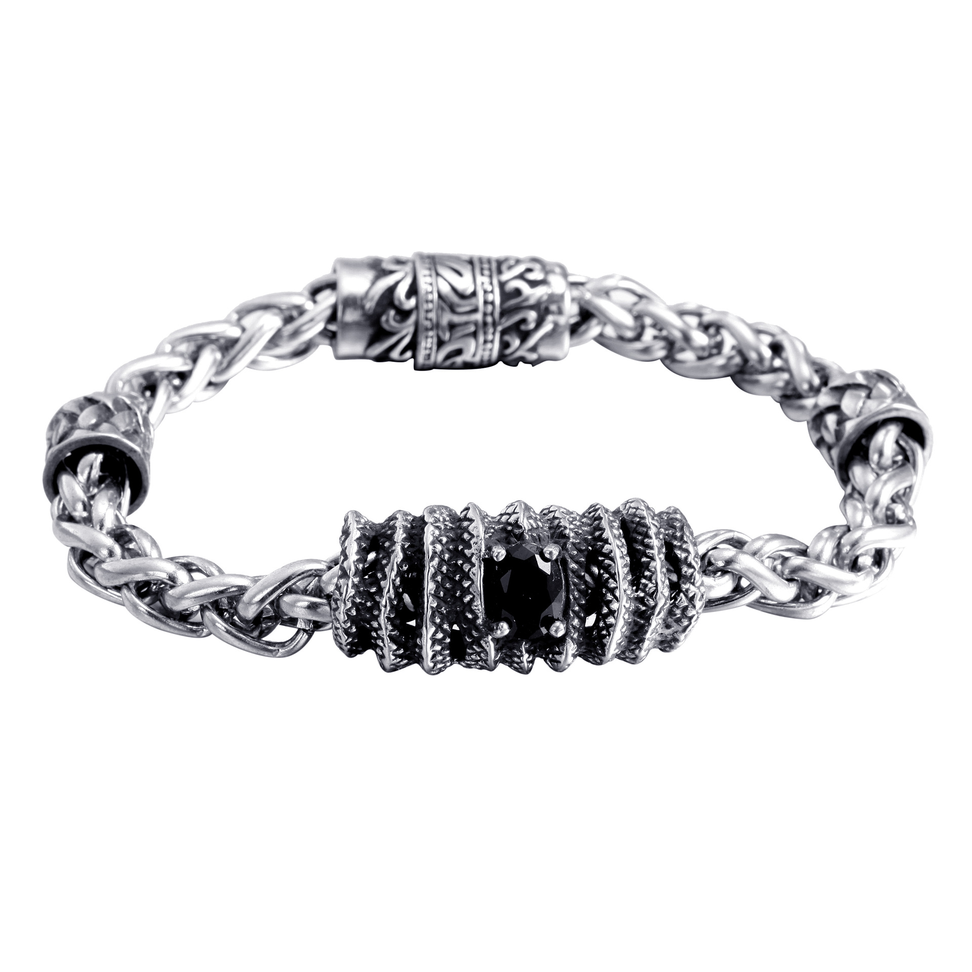 Stainless Steel Bracelet Simple Couple Titanium Steel Jewelry With  Unique Design For Men And Women 0