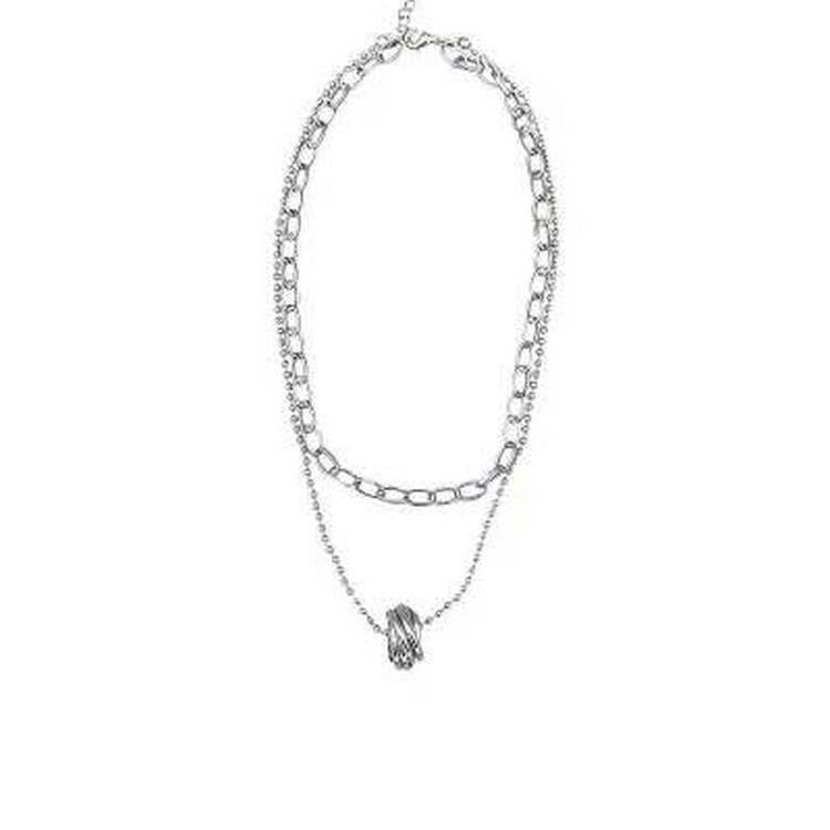 Korean Multilayer Ring Temperament Necklace Cold Sexy Clavicle Chain Necklace Hip Hop Necklace 4