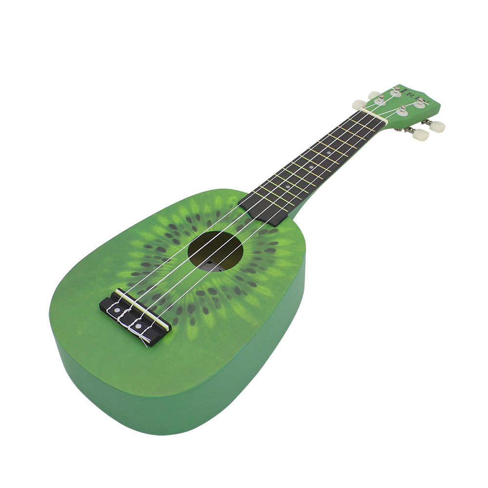 IRIN 21 Inch Ukulele Kiwi Guitar Green Guitar Plucked Instrument For Beginners 3