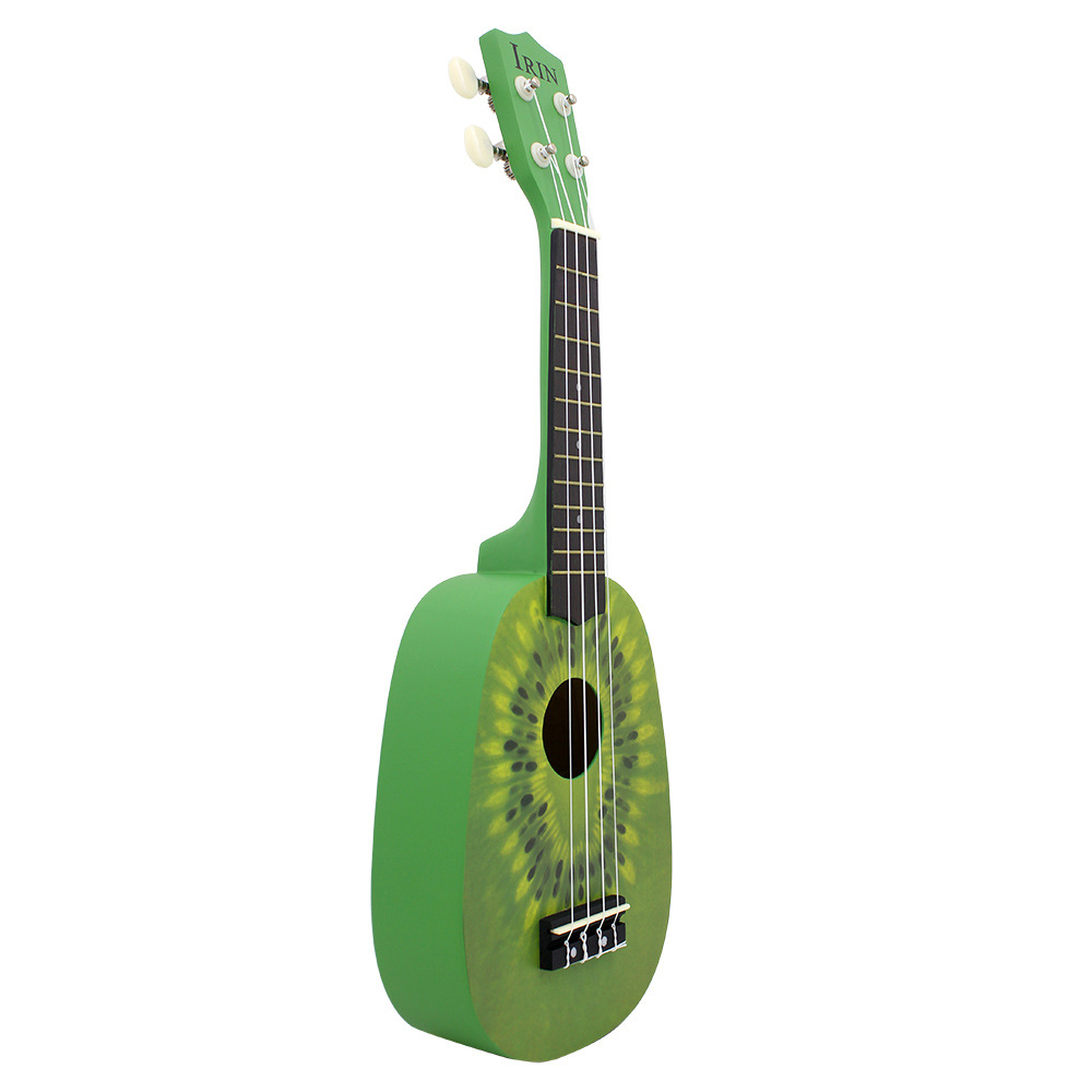 IRIN 21 Inch Ukulele Kiwi Guitar Green Guitar Plucked Instrument For Beginners 1