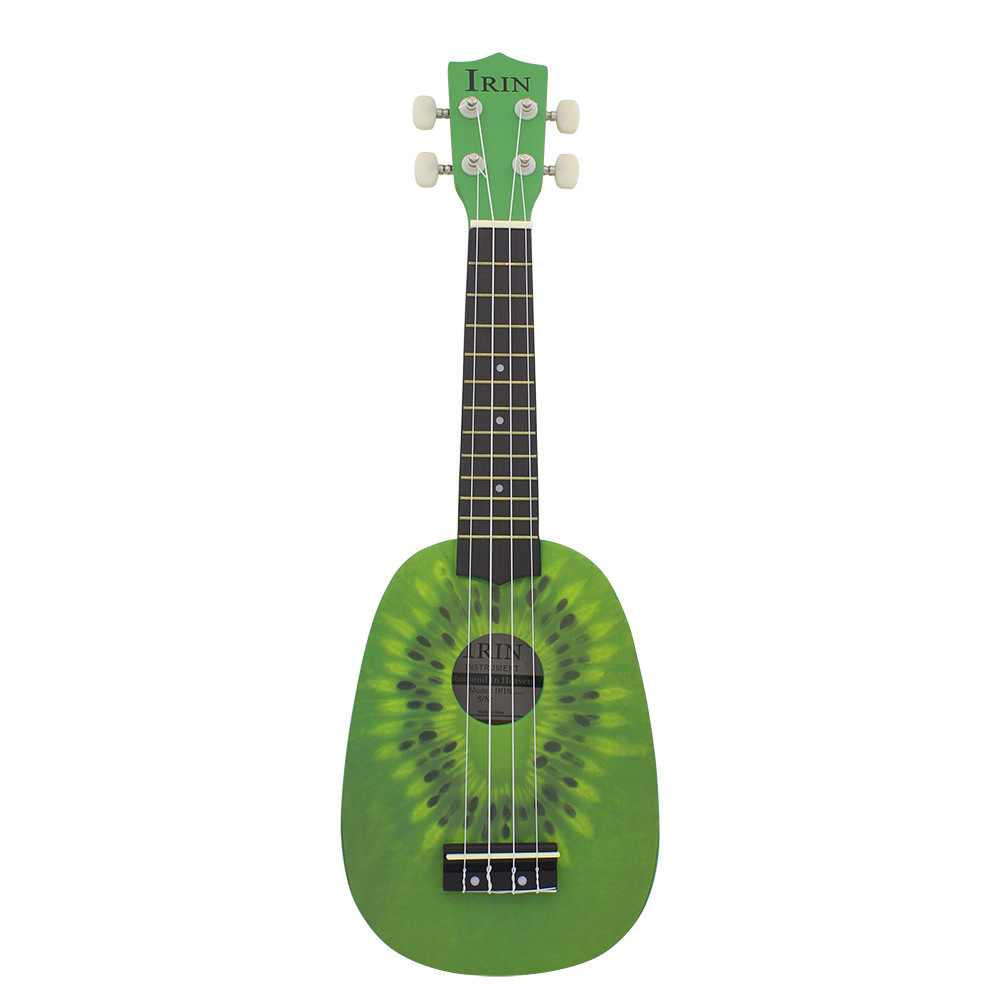IRIN 21 Inch Ukulele Kiwi Guitar Green Guitar Plucked Instrument For Beginners 2