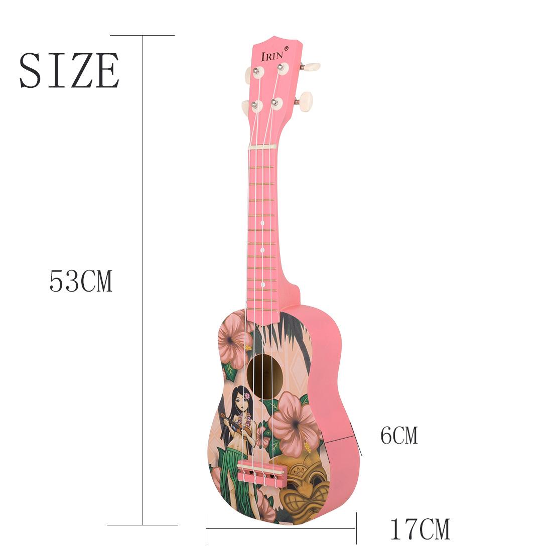 IRIN 21 Pink Inch Hawaiian Ukulele Four String Small Guitar Instrument For Girls 4