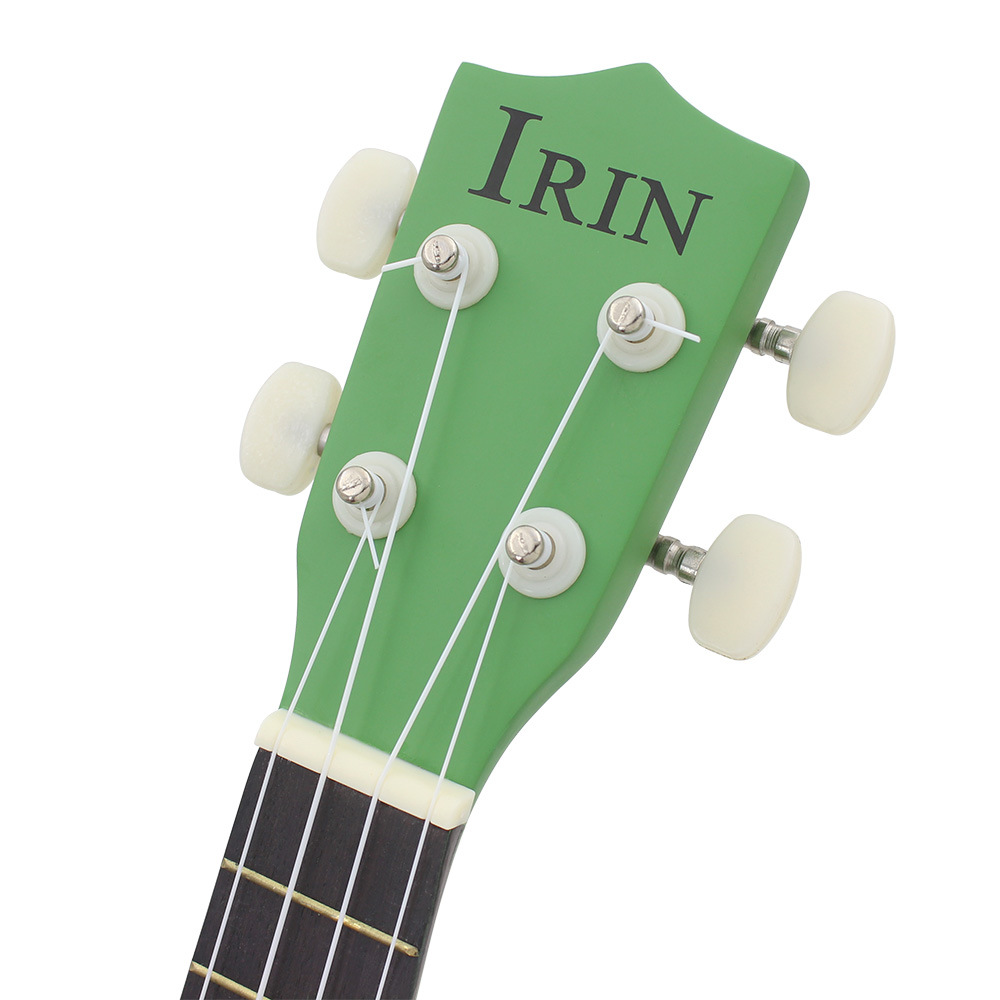 IRIN 21 Inch Ukulele Kiwi Guitar Green Guitar Plucked Instrument For Beginners 7