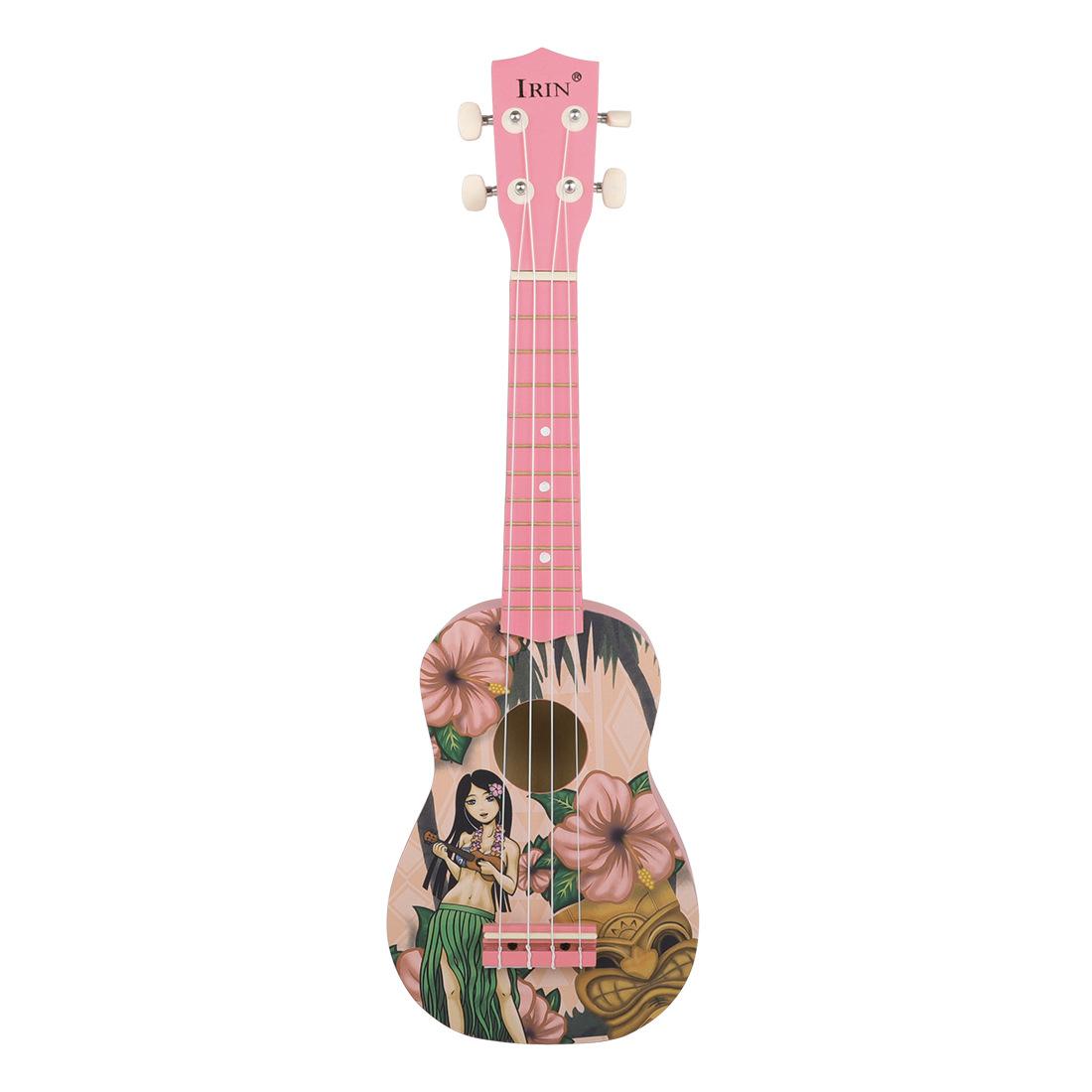 IRIN 21 Pink Inch Hawaiian Ukulele Four String Small Guitar Instrument For Girls 0