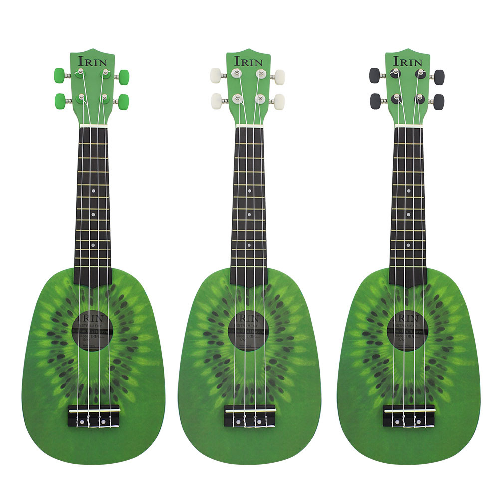 IRIN 21 Inch Ukulele Kiwi Guitar Green Guitar Plucked Instrument For Beginners 6