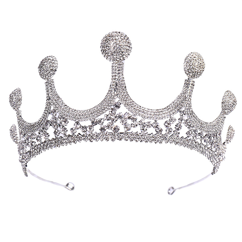 Large Rhinestone Crown Bride Wedding Dress Accessories Wedding Jewelry Birthday Gift 5