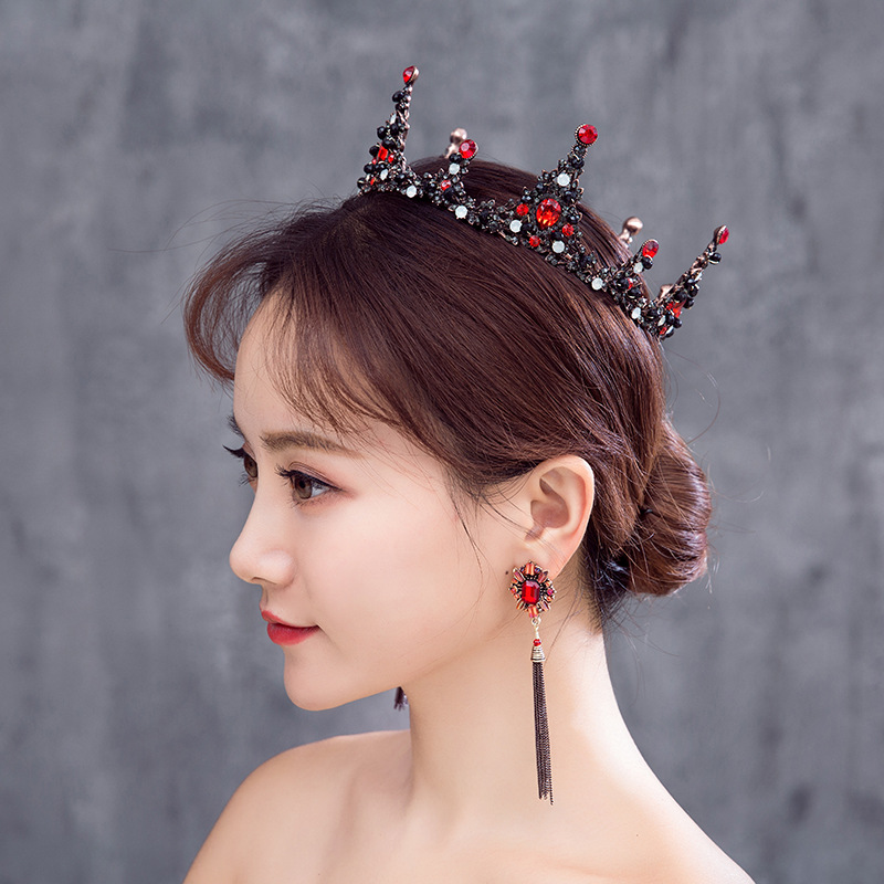 Baroque Retro Full Circle Big Crown Bridal Headdress Diadem Dress Show Headdress For Ladies 3
