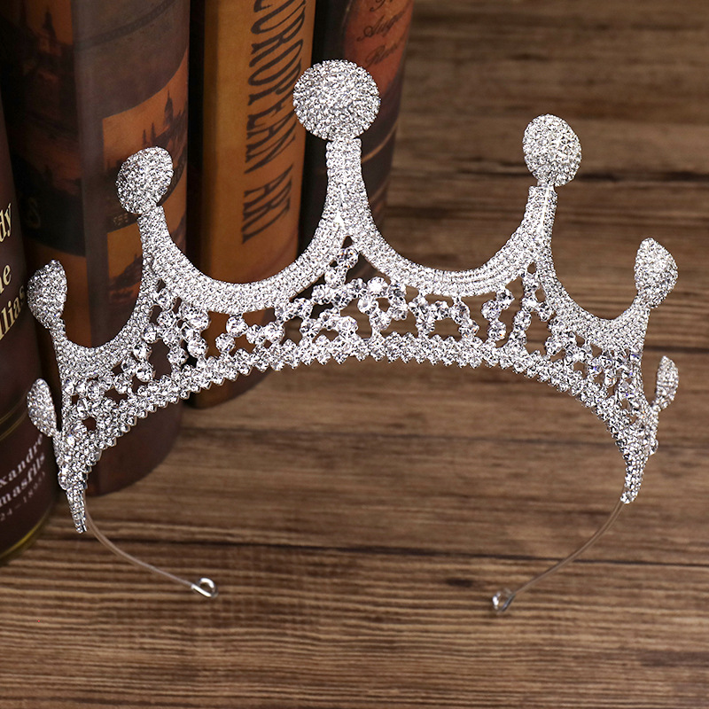 Large Rhinestone Crown Bride Wedding Dress Accessories Wedding Jewelry Birthday Gift 0