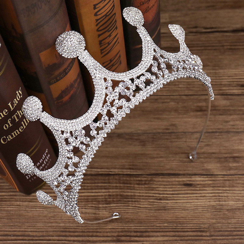 Large Rhinestone Crown Bride Wedding Dress Accessories Wedding Jewelry Birthday Gift 1