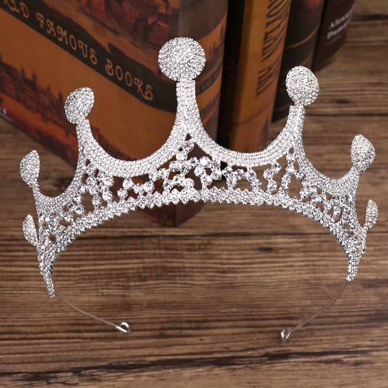 Large Rhinestone Crown Bride Wedding Dress Accessories Wedding Jewelry Birthday Gift 2