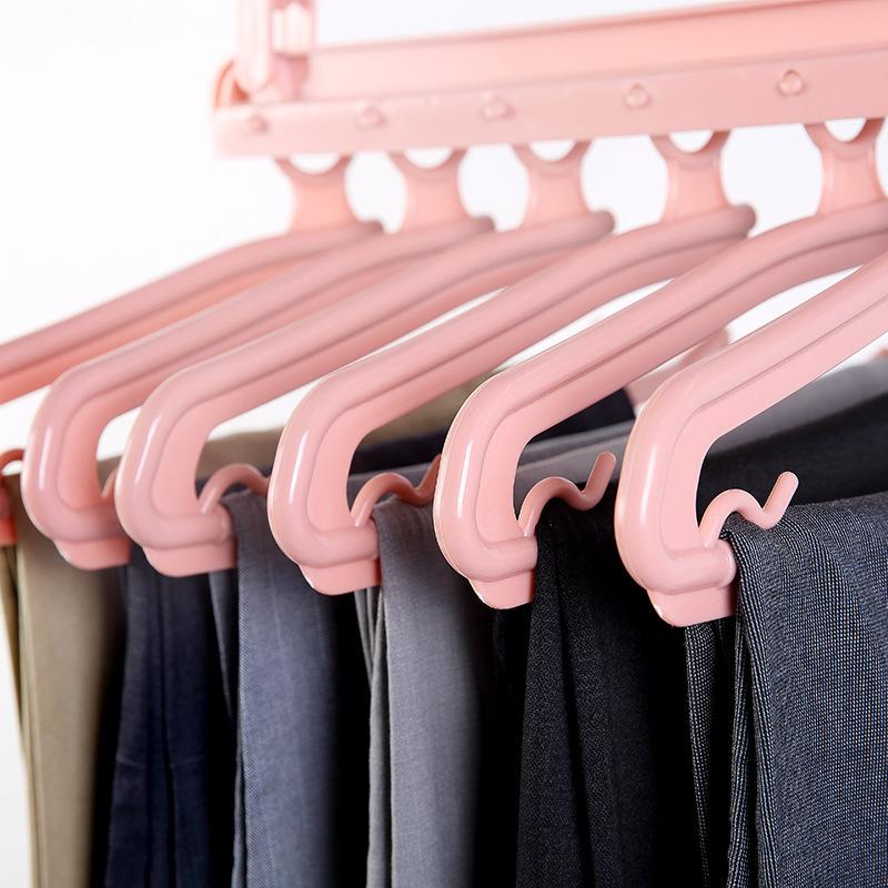 Folding Multifunctional Multi-layer Pants Rack Household Magic Pants Clip Wardrobe Storage Pants Hanger 2