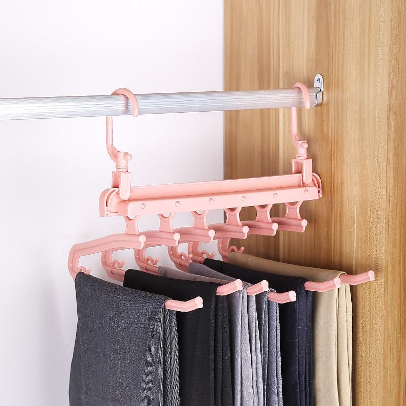 Folding Multifunctional Multi-layer Pants Rack Household Magic Pants Clip Wardrobe Storage Pants Hanger 1