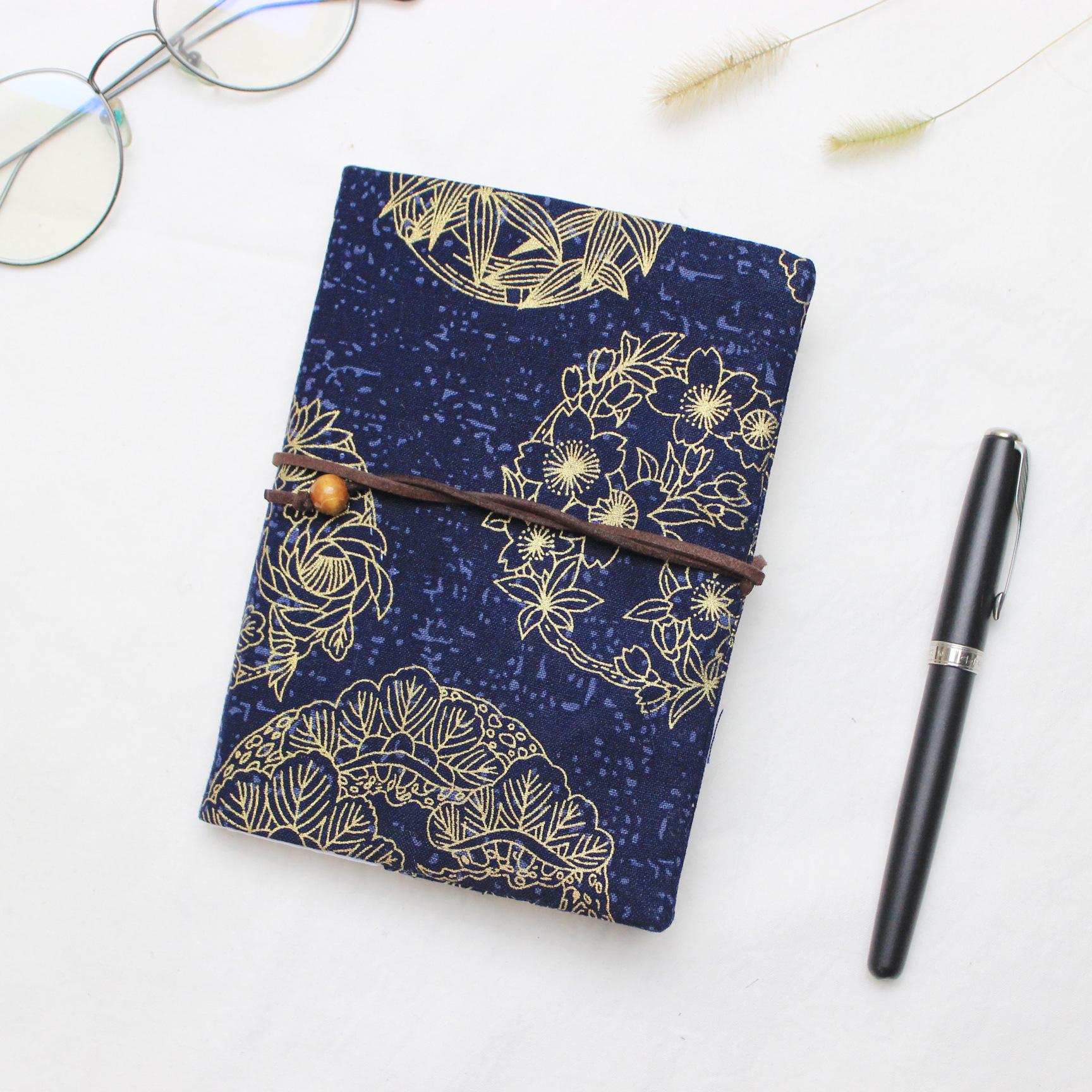 Retro Totem Handmade Cloth Book Cover Notebook Cloth Book Cover Hand Account A5A6 Adjustable Book Jacket 0