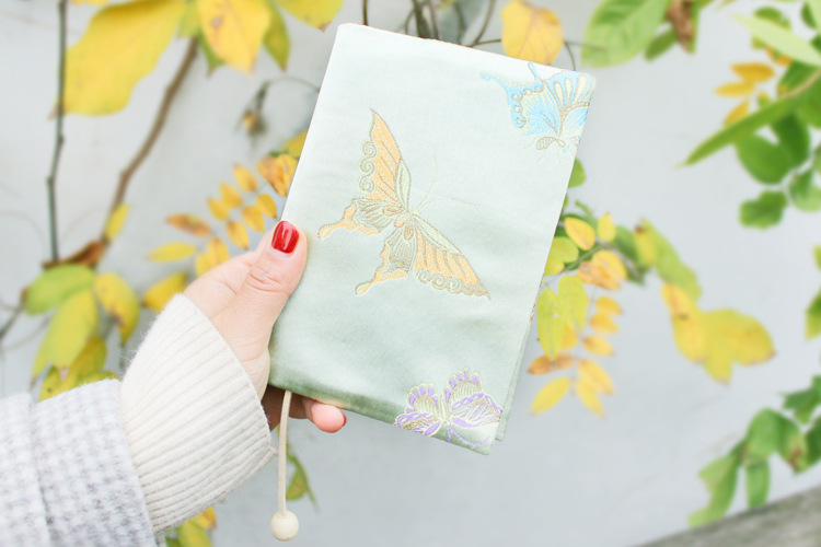 Vintage Butterfly Handmade Cloth Book Cover Notebook Cloth Book Cover Hand Account A5A6 Adjustable Book Jacket 0