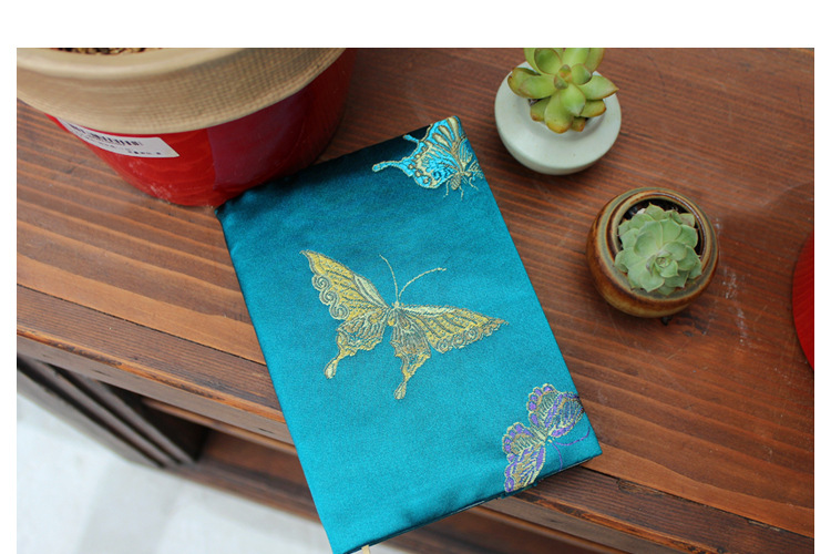 Vintage Butterfly Handmade Cloth Book Cover Notebook Cloth Book Cover Hand Account A5A6 Adjustable Book Jacket 7