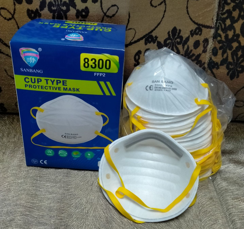 SANBANG 8300 FFP2 Disposable Respirators Head-mounted 20PCS 1