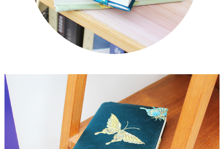 Vintage Butterfly Handmade Cloth Book Cover Notebook Cloth Book Cover Hand Account A5A6 Adjustable Book Jacket 9