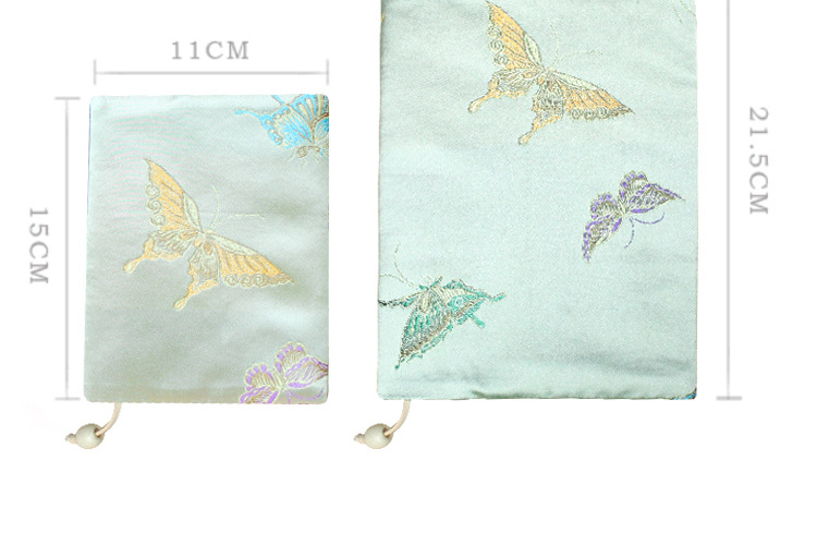 Vintage Butterfly Handmade Cloth Book Cover Notebook Cloth Book Cover Hand Account A5A6 Adjustable Book Jacket 3